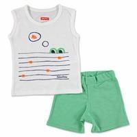 Summer Baby Boy Crocodile Sleeveless Top Short Set