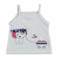 Summer Baby Girl Sweet Cherry Rope Strap Top