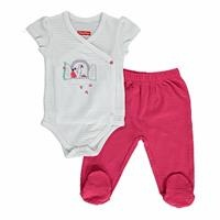 Yaz Kız Bebek Tatlı Kiraz Body-Patikli Alt Takım
