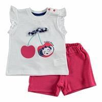 Yaz Kız Bebek Tatlı Kiraz Atlet-Şort Takım