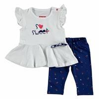 Yaz Kız Bebek Tatlı Kiraz Tshirt-Tayt Takım