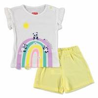 Summer Baby Girl Rainbow Tshirt-Short Set