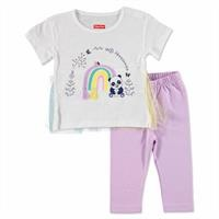 Yaz Kız Bebek Gökkuşağım Tshirt-Tayt Takım