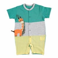 Summer Baby Lion Cotton Crew Neck Athlete Single Jumpsuit