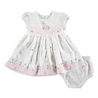 Yaz Kız Bebek Sevimli Tavşan Elbise-Külot Takım