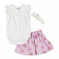 Summer Baby Girl Dot Dot Flower Skirt T-shirt Set