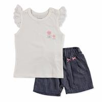 Summer Baby Cute Animals Cotton Short Sleeve Crew Neck T-shirt Short 2 pcs Set