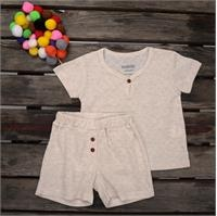 Summer Baby Key1Girls Rib T-shirt Short 2 pcs Set
