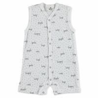 Summer Baby Boy Organic Happy Jumpsuit