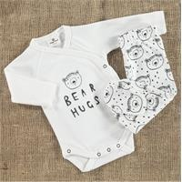 Organic Bear Bodysuit-Footed Bottom