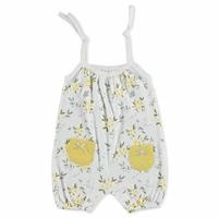 Summer Baby Girl Organic Flowers Jumpsuit