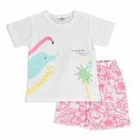 Summer Baby Girl Cotton Short Sleeve T-shirt Short 2 pcs Set