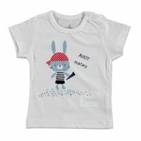 Bebek Küçük Korsan Süprem Kısa Kol Çıtçıtlı Yaka Tshirt