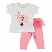 Yaz Kız Bebek Babamı Seviyorum Tshirt-Tayt
