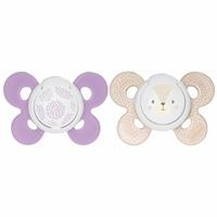 Physio Comfort Silicon Baby Pacifier Girls 12 Months 2 pcs