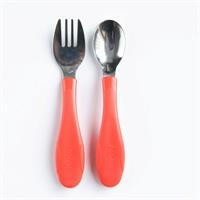 Baby Stainless Steel Fork Spoon Set 12 Month+