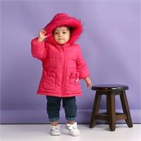 Baby Girl Cat Pocket Water Repellent Coat