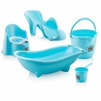 Baby Bathtub Set 5 pcs Blue