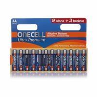 Ultra Premıum Alkalin AA Boy Pil 9+3