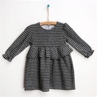 Kış Basic Ekose Bebek Elbise