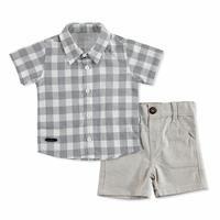 Bebek Büyülü Kareli Gömlek-Şort