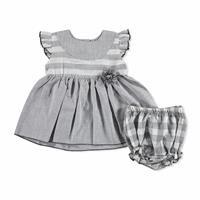 Bebek Çizgili-Kareli Elbise