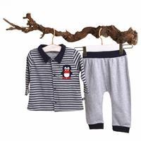Erkek Bebek Martin Ribanalı Sweatshirt Tek Alt 2li Takım
