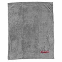 Multipurpose Car Embroidered Baby Blanket 80x90 cm - Gray