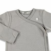Baby Organic Grey Woollen Rib Jacket