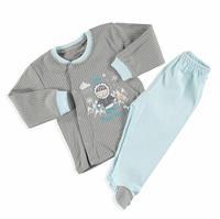 Adventure Baby Boy Snaps Long Sleeve Cardigan Footed Pant Set 2 pcs