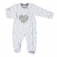 Heart Printed Baby Snaps Footed Romper