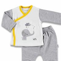 Fun Friends Baby Quilted + Velvet Bodysuits Footed Pants