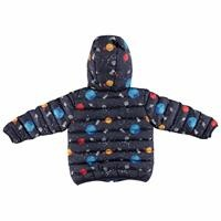 Winter Space Printed Baby Hoodie Zippered Coat