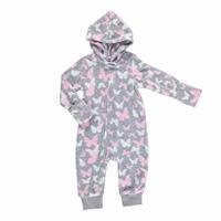 Winter Zippered Hoodie Polar Baby Romper