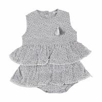 Baby Girl Texture Flower Dress Bodysuit