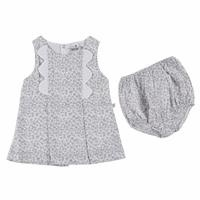 Spring Flowers Baby Girl Dress Panty Set