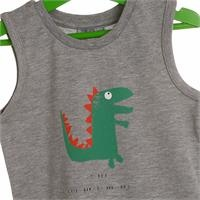 Summer Baby Boy Dino Printed Athlete