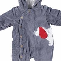 Hoodie Cotton Lined Baby Polar Romper