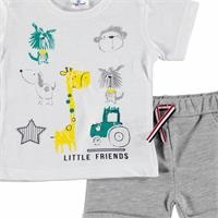 Baby Boy Little Friends Tshirt Short Set
