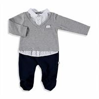 Baby Boy Tie Detailed Romper
