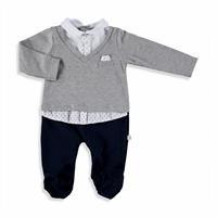 Kravat Detaylı Patikli Erkek Bebek Tulum