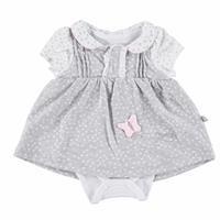 Flamingo Baby Girl Interlock Dress Bodysuit