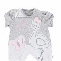 Flamingo Baby Girl Interlock Short Romper