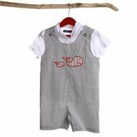 Baby Boy Texture Jumpsuit Tshirt Set 2 pcs Set
