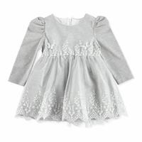 Winter Baby Girl Butterfly Long Sleeve Special Day Dress