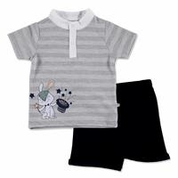 Summer Baby Boy Bunny T-shirt Short 2 pcs Set