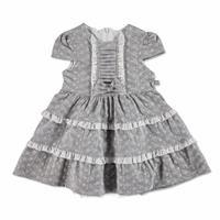 Summer Baby Girl Flower Interlock Short Sleeve Round Collar Dress
