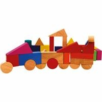 Wooden Baby Blocks 40 Pieces