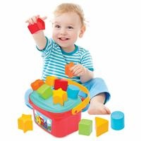 Baby Shape Sorter Puzzle Bucket with Basket