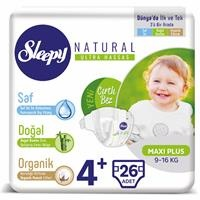 Natural Baby Diapers Size 4 Maxi Plus 9-16 kg 26 pcs